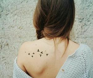 tattoo, girl, and bird image