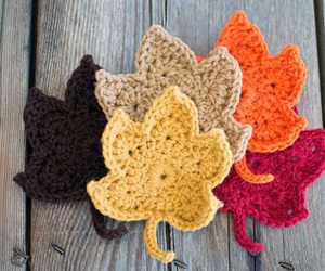 crochet and autumn image