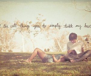 words, you and me, and cute image