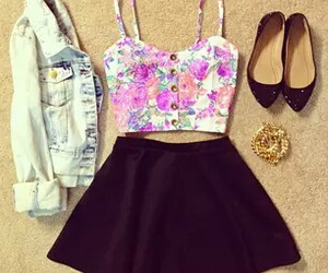 outfit, skirt, and clothing image