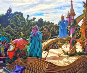 blue fairy, cinderella, and disney image