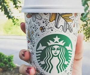 starbucks, coffee, and fall image