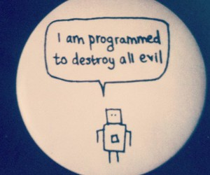 message, phrase, and robot image