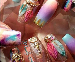 nails, nail art, and pastel image