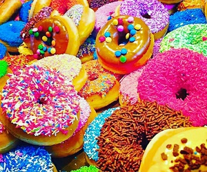 donuts, colors, and food image