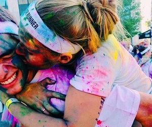 couple, love, and color run image