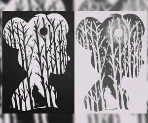 beautiful, grunge, and black and white image