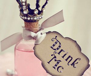 pink, drink, and drink me image