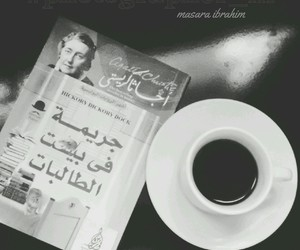 book, coffee, and agathachristie image