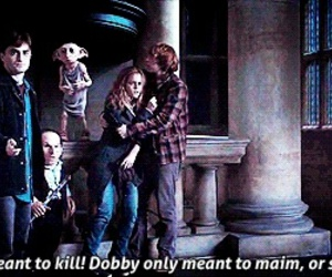 harry potter, dobby, and hermione image
