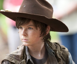 chandler riggs, carl, and the walking dead image