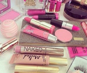 makeup and pink image