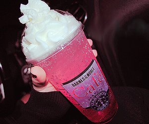 pink, drink, and starbucks image