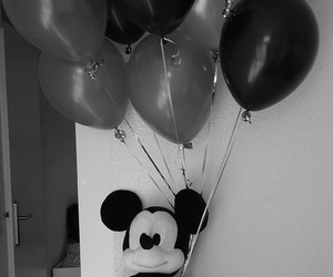 ballons, micky mouse, and birthday image