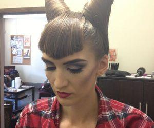 hair and halloween costume image
