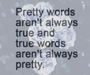 pretty, quotes, and true image
