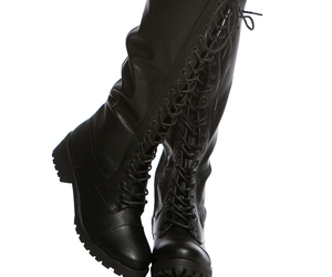black, combat boots, and cicihot image