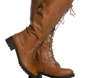 boots, chestnut, and lace up image