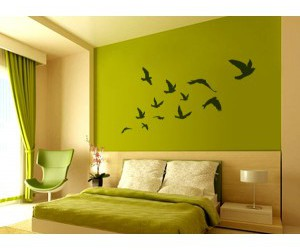 green, bedroom, and room image