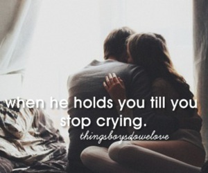 couple, crying, and hold image
