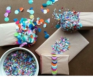 confetti, diy, and gift image