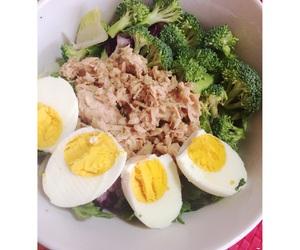 broccoli, eggs, and food image