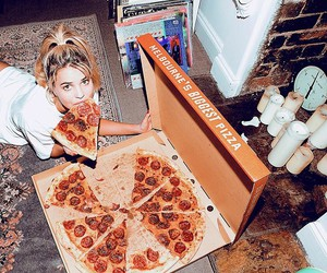 pizza and girl image