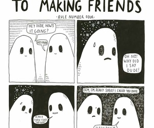 club, comics, and ghost image