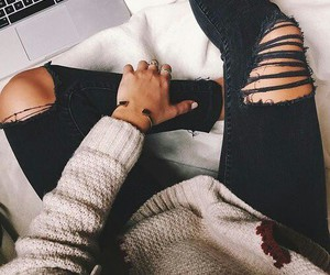black jeans, style, and fashion image
