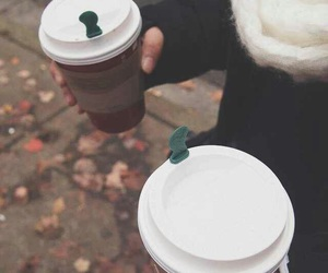 coffee, starbucks, and cold image