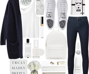 fashion, white, and Polyvore image