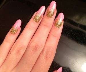 nails, almond, and shaped image