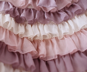 pink, ruffles, and purple image