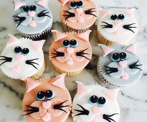 desserts, cat, and food image