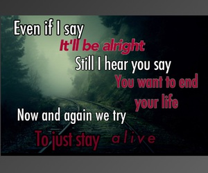Lyrics, three days grace, and never too late image