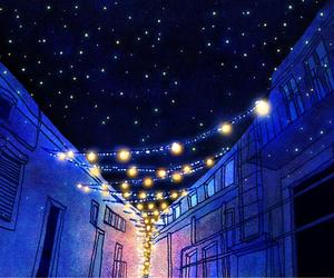 night, lights, and art image