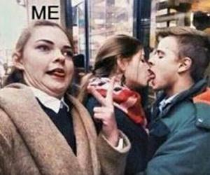 me, kiss, and funny image