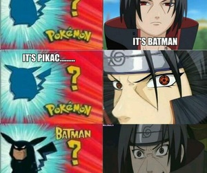 naruto, pokemon, and batman image