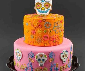 cake, day of the dead, and dia de los muertos image