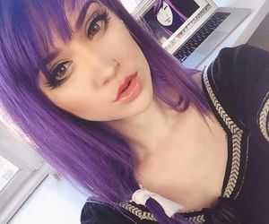 hair and purple hair image