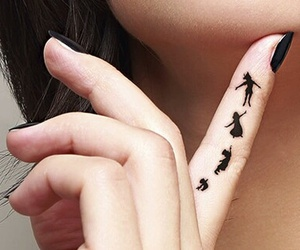 tattoo, peter pan, and black image