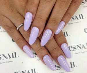 nails, purple, and girly image