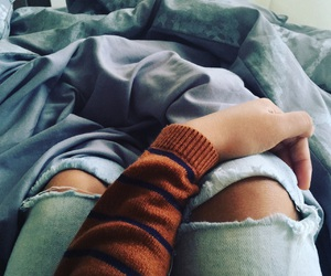 bed, weather, and pants image