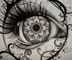 background, eye, and girl image