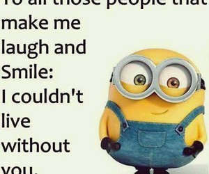 laugh, minions, and smile image