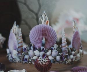 crown, mermaid, and princess image