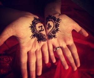 heart, henna, and mhendi image