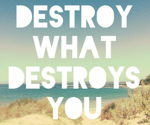 live life, destroy what destroys you, and be carefree image