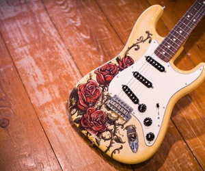 beautiful, red, and Stratocaster image