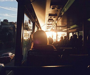 bus and sun image